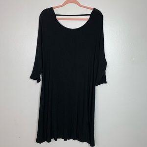 F21 black midi dress 3x